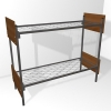 Металлические двухъярусные кровати, кровати для рабочих, низкие цены. - фотография №9