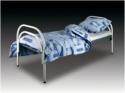 Кровати металлические двухъярусные, кровати для рабочих, кровати оптом - фотография №3