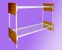 Кровати металлические двухъярусные, кровати для рабочих, кровати оптом - фотография №4
