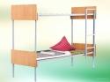 Кровати металлические для казарм, кровати двухъярусные для общежитий - фотография №4