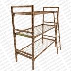 Металлические кровати для общежитий, кровати одноярусные, двухъярусные - фотография №7
