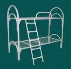 Металлические кровати для общежитий, кровати одноярусные, двухъярусные - фотография №4