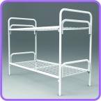 Металлические кровати для общежитий, кровати одноярусные, двухъярусные - фотография №3