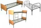 Железные одноярусные и двухъярусные кровати, кровати для казарм, оптом